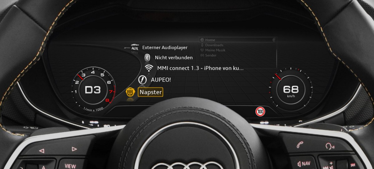 Online Media Streaming mit Audi connect
