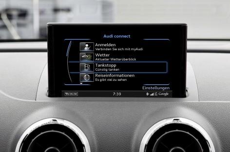 Audi Connect mit neuem Service: Tankstopp