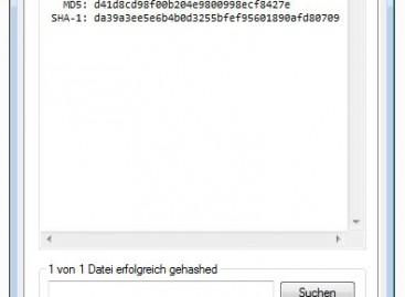 HashCheck Shell Extension – Prüfsummen überprüfen in Windows