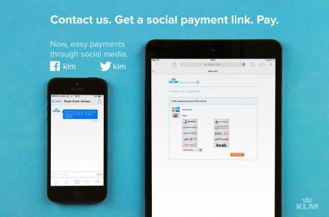 KLM: Bezahlen via Twitter und Facebook jetzt möglich