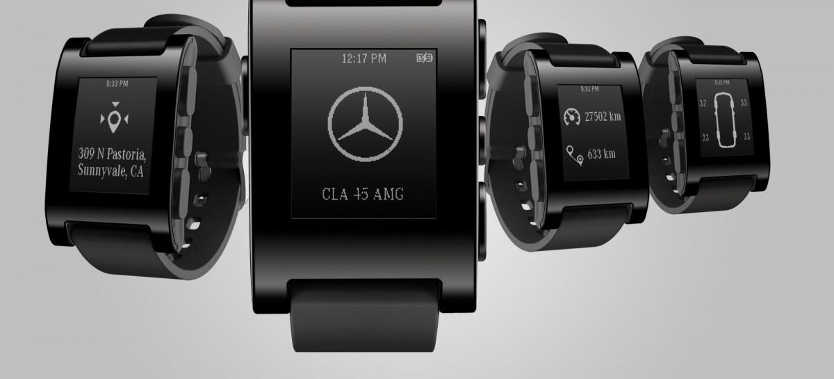 Mercedes Benz: Integration von Pebble, Nest und Google+ ins Fahrzeug