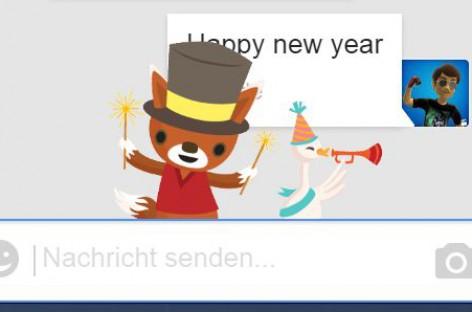 Neujahrsgrüße in Hangouts