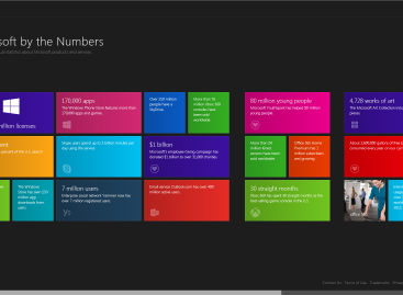 """Microsoft by the Numbers"" Webseite online"