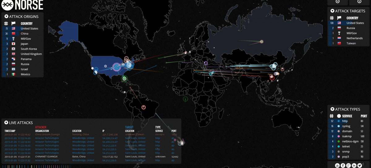 Cyber War live verfolgen: Cyber War World Map