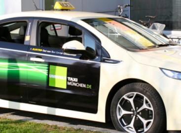 Umwelt Taxi München jetzt mit Opel Ampera unterwegs