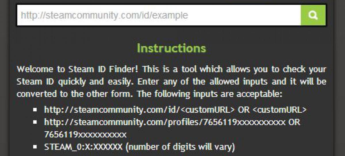 STEAM ID Finder