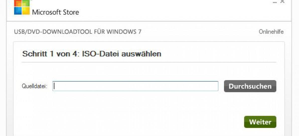 Bootfähigen USB-Stick erstellen zur Installation von Windows 7/8