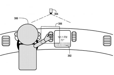 Google reicht Patent für Gestensteuerung im Auto ein.