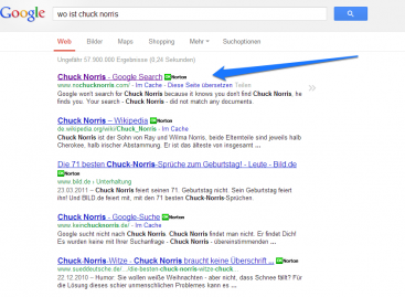 Google Easter Egg: Wo ist Chuck Norris?