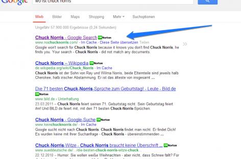 Google Easter Egg: Wo ist Chuck Norris?
