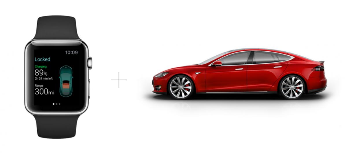 Steuerung des Tesla mit Apple Smartwatch