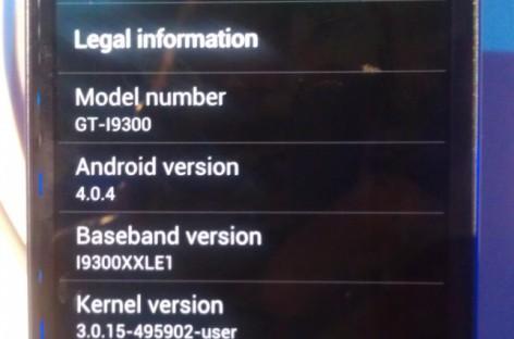 Samsung Galaxy SIII unpacked