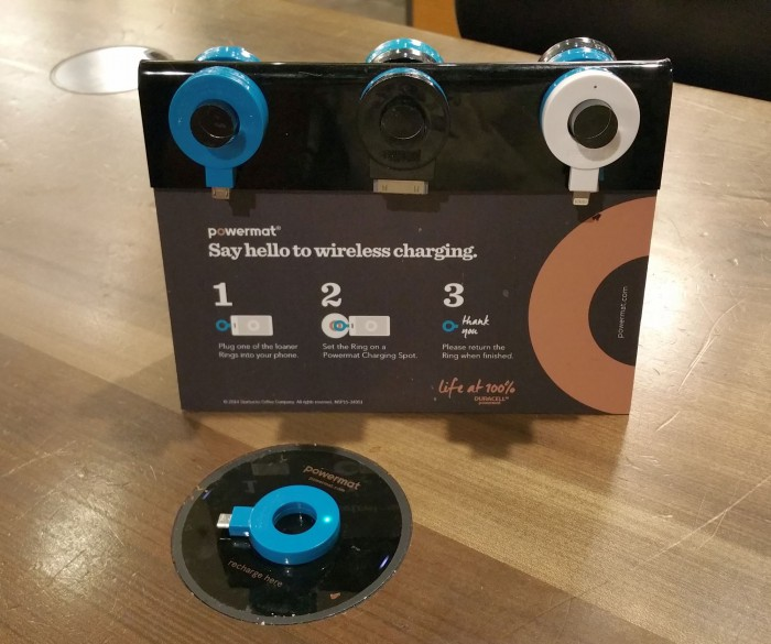 Starbucks: wireless charging